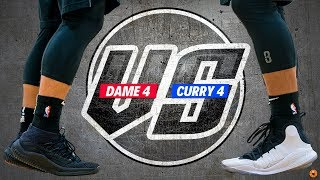 ADIDAS DAME 4 vs. UNDER ARMOUR CURRY 4