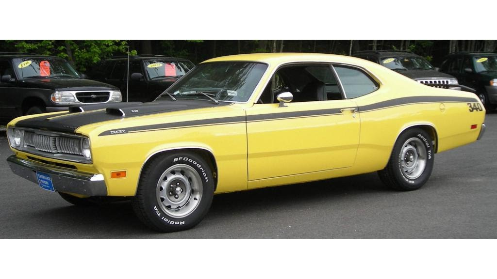 1971 plymouth duster 340 in lemon twist youtube. Black Bedroom Furniture Sets. Home Design Ideas