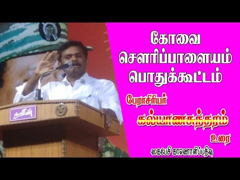 நாம்தமிழர் கட்சி பேராசிரியர் கல்யாணசுந்தரம் உரை | Prof.Kalyanasundaram Speech at sowripalayam