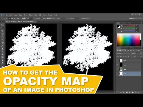 How To Make An Opacity Map In Photoshop (Alpha Channel Transparency)