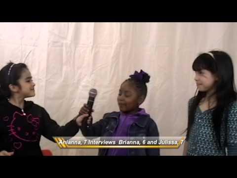 Arianna, 7 interviews Brianna, 6 and Julissa, 7