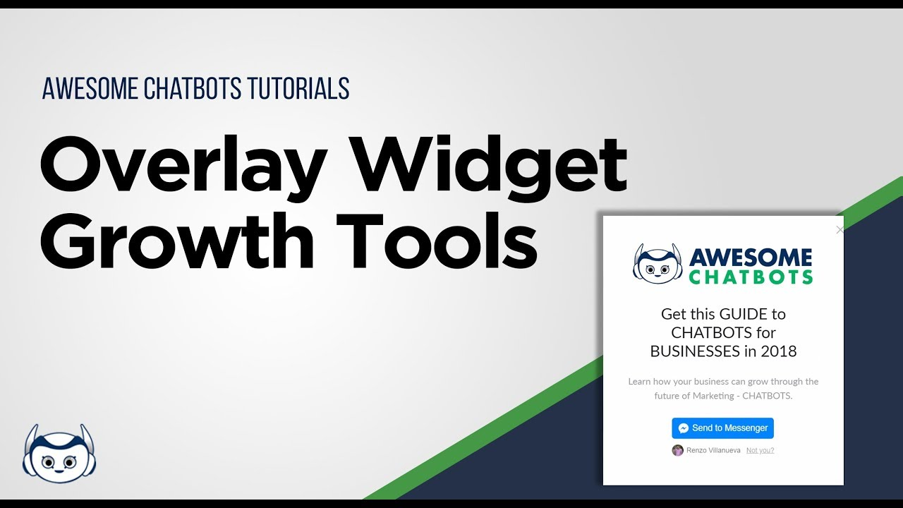 Growth Tools - Overlay Widgets Manychat