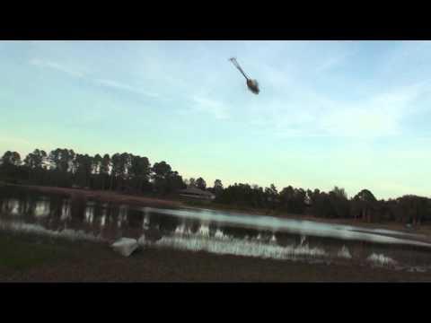 Neal Kapaloric flying over a Deltona Lake