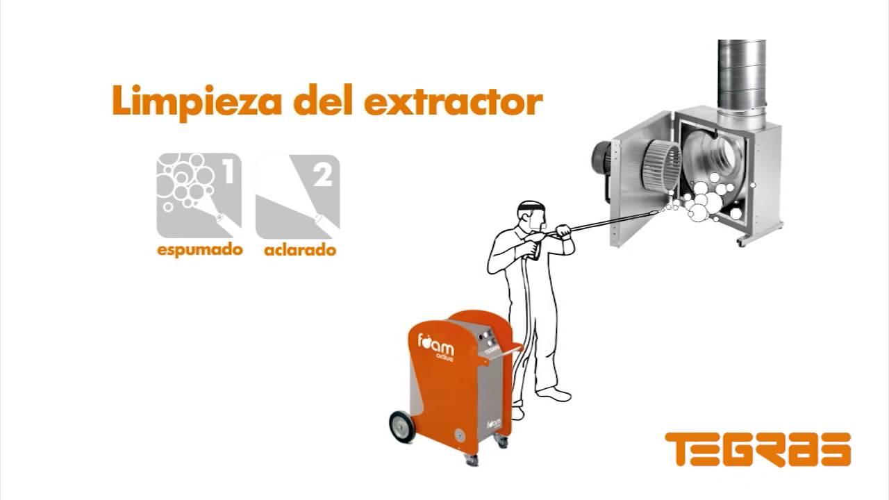 Ejemplo limpieza extractor de cocina industrial con tegras for Extractor de cocina industrial
