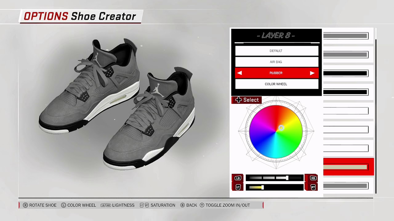 NBA 2K18 Shoe Creator - Air Jordan 4