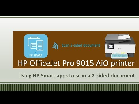 HP OfficeJet 9010|9015|9020|9025 : Using HP Smart to scan a 2 sided document