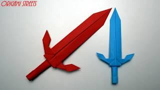 как сделать из бумаги меч (Origami Sword)