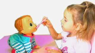Johny Johny Yes Papa Baby Playing with Doll learn colors songs for kids
