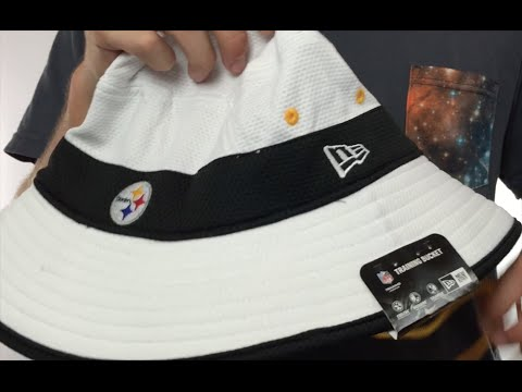 20e76d4ca37812 Steelers '2015 NFL TRAINING BUCKET' White Hat by New Era - YouTube
