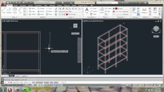 Autocad 2013 - 3d Modeling Basics - Adjustable Cabinet Part 2 - Brooke Godfrey