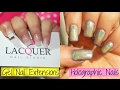 Gel Nail Extensions + Holographic Nails | Classic French | ft. Lacquer Nail Studio,Lucknow | Shweta