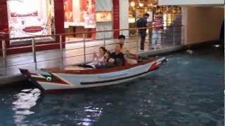 2013 -Sampan Ride -The Shoppes at Marina Bay Sands Shopping Mall Boats Singapore HD