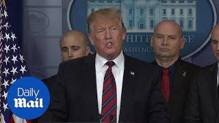 Trump pushes for border security in the White House briefing room
