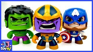 Thanos VS Avengers. Iron man Hulk Spider man Toys. Color Sand Super Hero for Kids.[JJtoy TV
