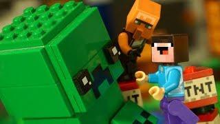 ДОМ в КРИПЕРЕ и ЧЕЛЛЕНДЖ для Лего НУБика Майнкрафт - LEGO Minecraft Мультики