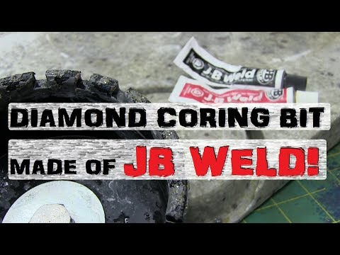 BIG JB-Weld Diamond Coring Bit | Workshop Fabricobblin' Fun!