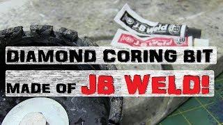 BIG JB-Weld Diamond Coring Bit | Workshop Fabricobblin