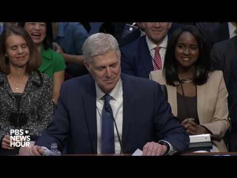 Watch Judge Neil Gorsuch's opening statement