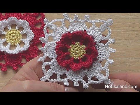 Crochet Square Motif Tutorial Crochet Flower Square