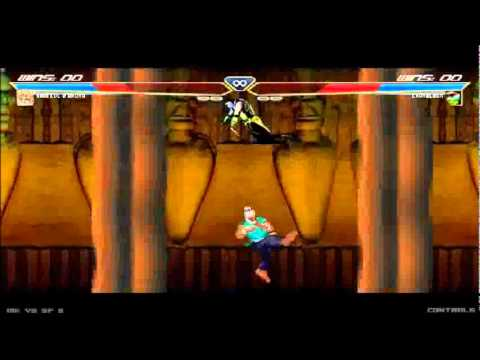 Mortal Kombat vs Street Fighter 3 (Akuma vs Chameleon) - HQ -
