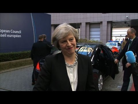 British PM May urges 'smooth and orderly' Brexit