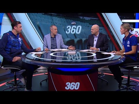 Todd Goldstein and Kaitlyn Ashmore on AFL 360 - Fox Footy (May 24, 2018)