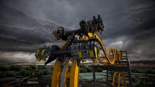 Batman The Ride Roller Coaster B-Roll & POV Shots Six Flags Fiesta Texas 2015