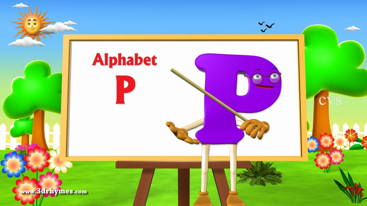 letter p song letter p song 3d animation learning alphabet abc 23111