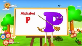 Letter P Song - 3D Animation Learning English Alphabet ABC Songs For children
