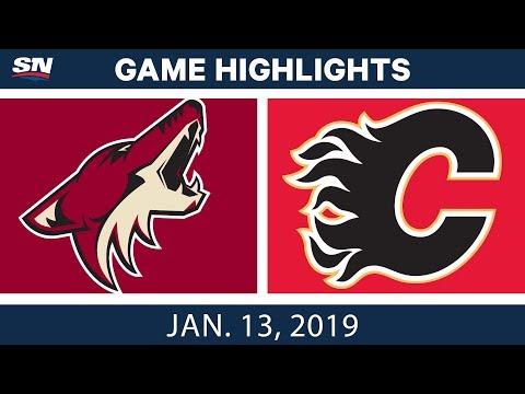 NHL Highlights | Coyotes vs. Flames - Jan. 13, 2019
