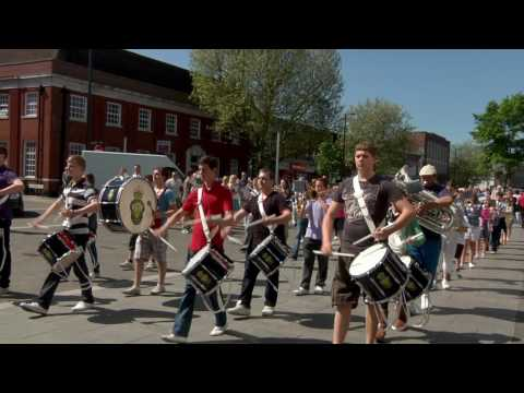 Royal British Legion Youth Band Brentwood - Blaze Away - Flash Mob