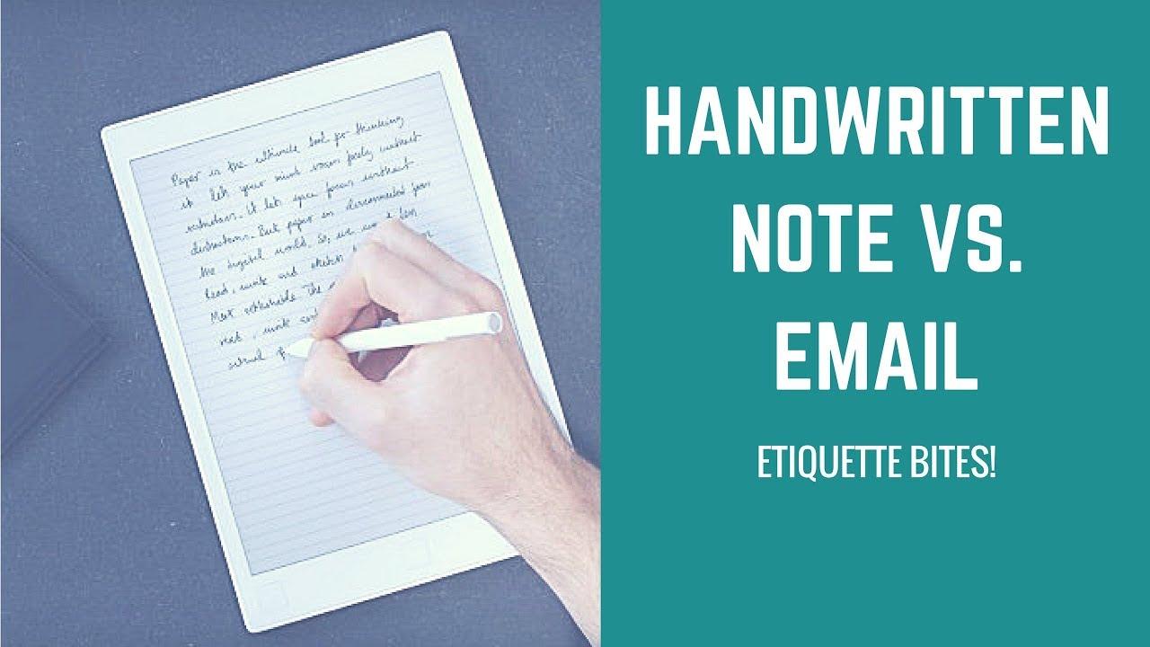 etiquette bites handwritten note vs email youtube. Black Bedroom Furniture Sets. Home Design Ideas