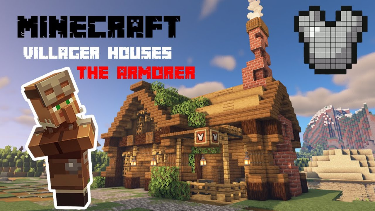 Minecraft  How to build  The ARMORER villager house