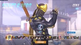 [Overwatch] Genji - Seoul Dynasty [In-Game Skin Showcase] w/Golden Gun
