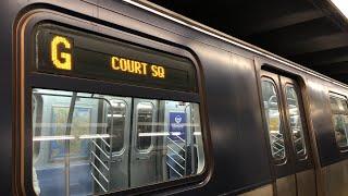 ⁴ᴷ Half Refurbished R160 Train Running on the (G) Line
