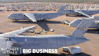How The World's Largest Airplane Boneyard Stores 3,100 Aircraft | Big Business