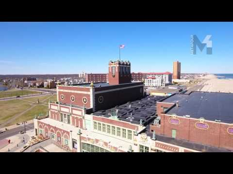 Commercial Real Estate Flyover Asbury Park NJ in 4k