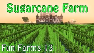 Dense, Lossless, Automatic, Cheap and Good Looking Sugarcane Farm - Minecraft (Fun Farms 13)