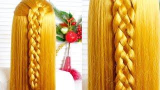 Косичка из 5 прядей 💟 Косы 💟 Легкие прически на каждый день/Braids/Easy hairstyle for every day 💟