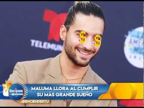 Maluma llora al cumplir su más grande sueño