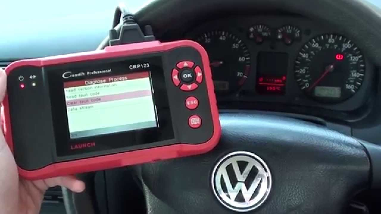 How I Reset Vw Golf Airbag Dash Light With Launch Crp123