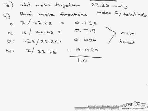 Mass and Mole Fractions (Conversions)