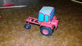 Урок. Как сделать  ХТЗ Т-16  трактор-шассик из пластилина своими руками!