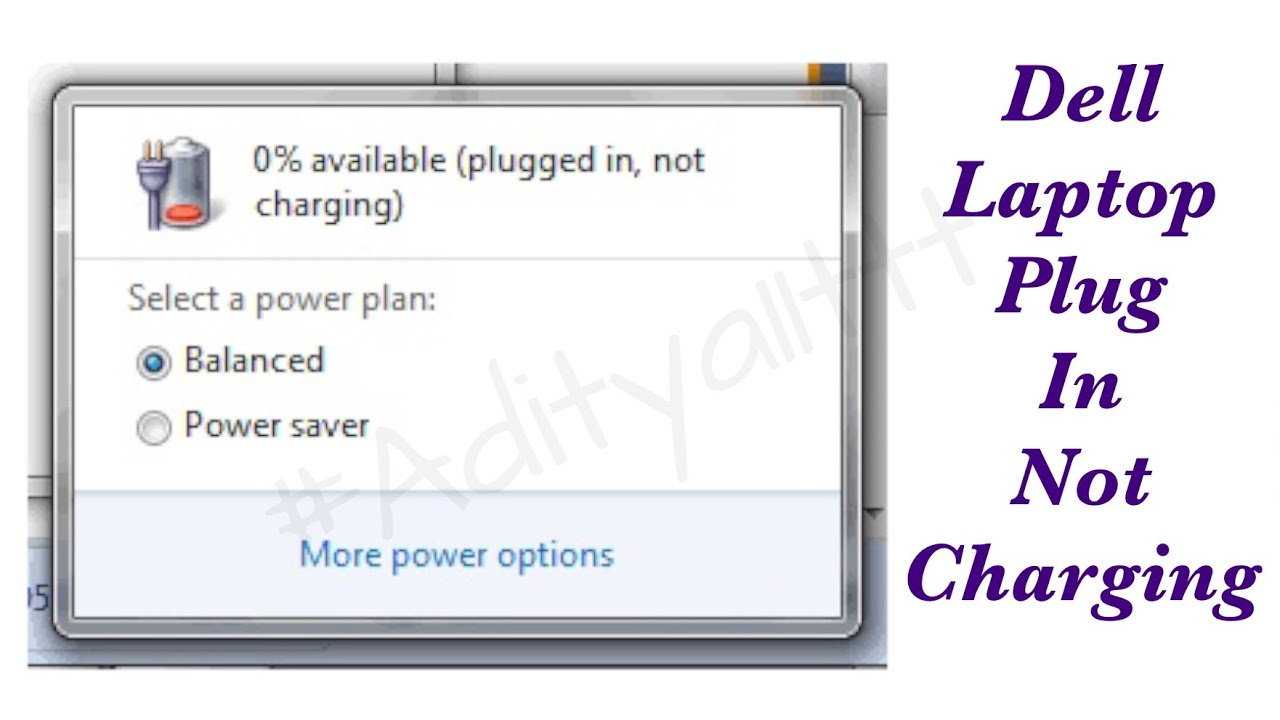 laptoprepair dell battery plugged in not charging issue solved by satishbhai aditya11ttt [ 1280 x 720 Pixel ]