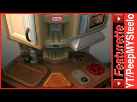 american plastic toys my very own gourmet kitchen - youtube