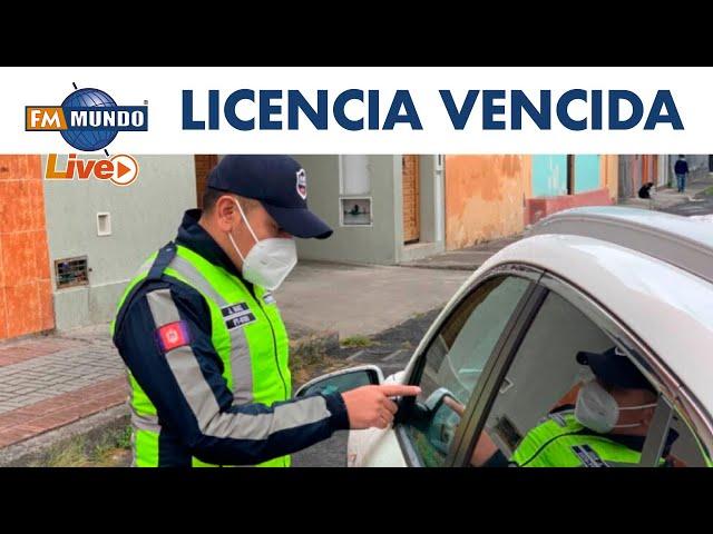 Circulación con licencias caducadas en Ecuador