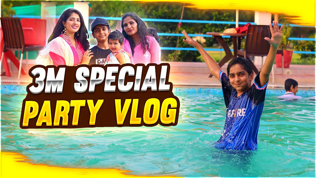 3 Million Special Party Vlog 😍🔥 - Aditech