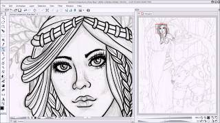 Creating an Adult Coloring Page from a Sketch in Clip Studio Paint - Time Lapse - Fantasy Art