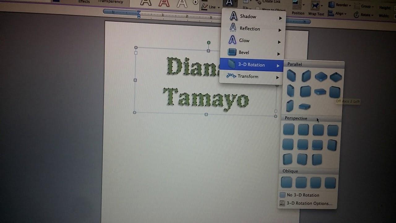How to create Word Art in Microsoft Word (Mac)