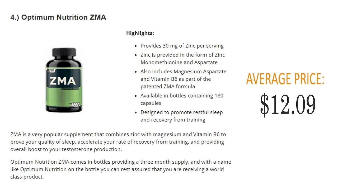 Best Zinc Supplements – Top 10 Products Ranked